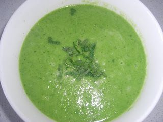 Pea, Brocolli and Mint Soup