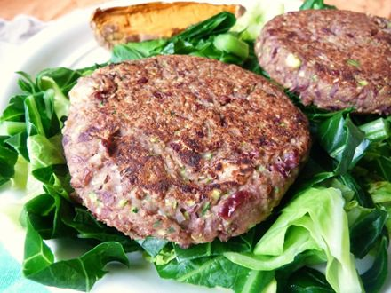 Spicy Rye and Bean Burgers