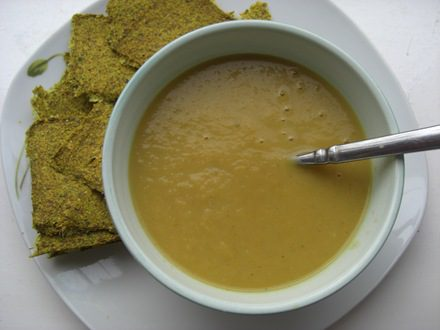 Thai Green Sweet Potato and Leek Soup