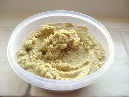 Easy Pesto Hummus