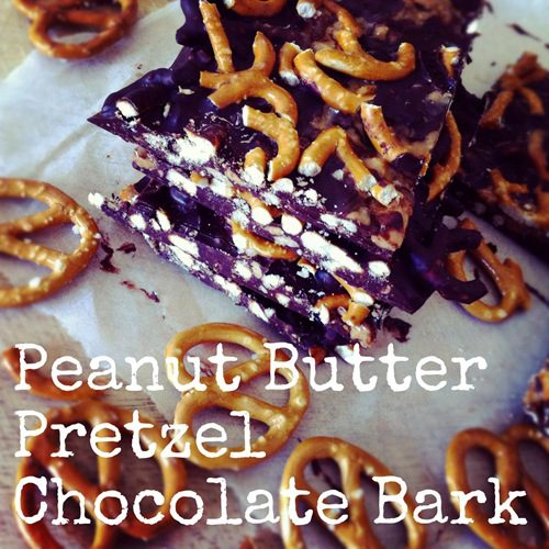 Recipe: Peanut Butter Pretzel Chocolate Bark