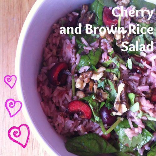 Recipe: Cherry and Brown Rice Salad