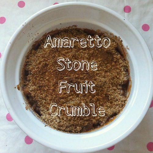 Amaretto Stone Fruit Crumble