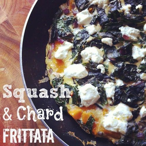 Recipe: Squash and Chard (or spinach) Frittata