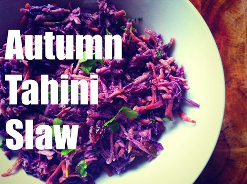 Recipe: Autumn Tahini Slaw