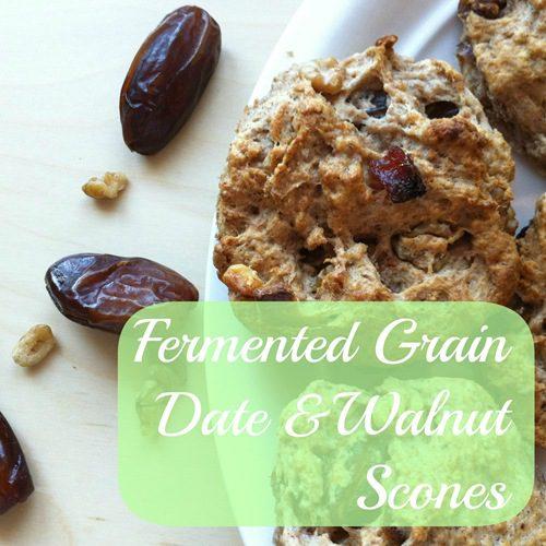 Recipe: Fermented Grain Date and Walnut Scones