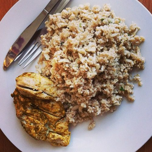 Recipe: Baked Chicken and Cauliflower Rice two ways