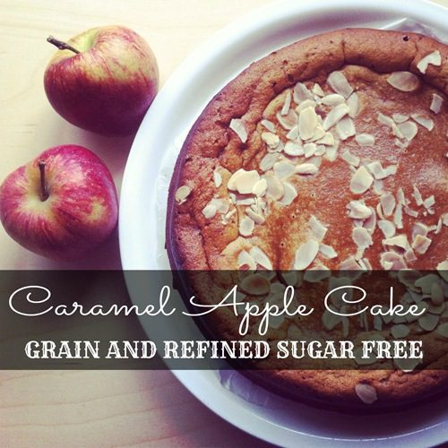 Recipe: Caramel Apple Cake with Salted Caramel Sauce (grain free, refined sugar free, Paleo)