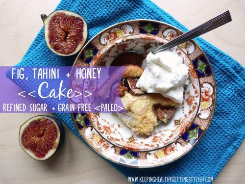 Recipe: Fig, Tahini + Honey Cake (refined sugar + grain free, paleo)