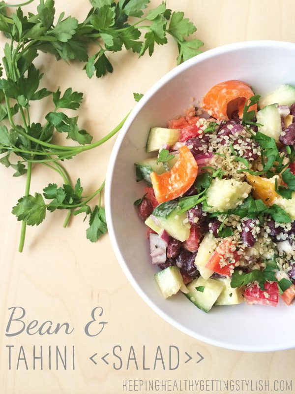 Recipe: Bean and Tahini Salad (vegan)