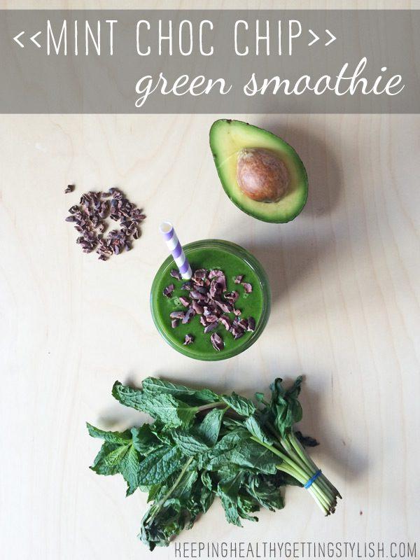 Recipe: Mint Choc Chip Green Smoothie + green smoothie challenge