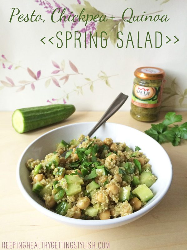 Recipe: Pesto, Chickpea + Quinoa Spring Salad