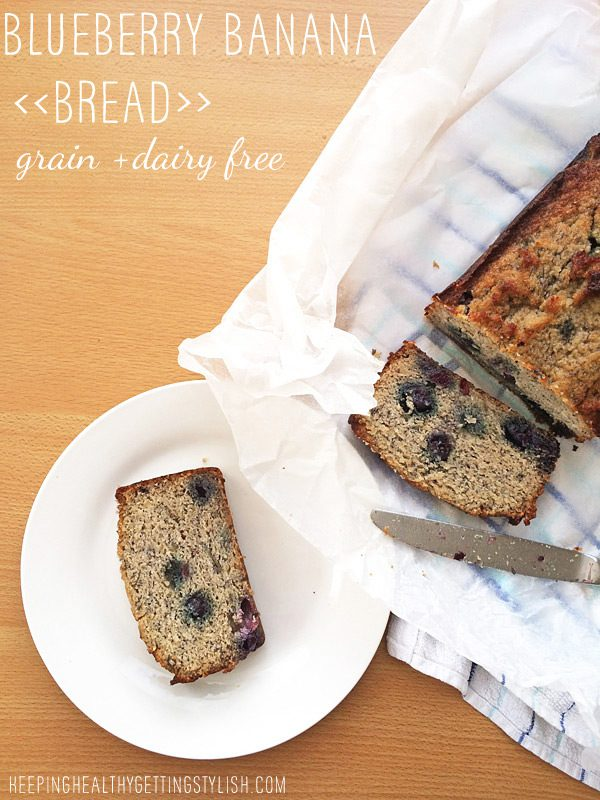 Recipe: Blueberry Banana Bread (grain and dairy free)