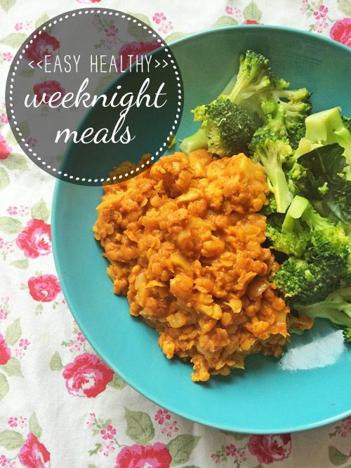 Easy healthy weeknight meals