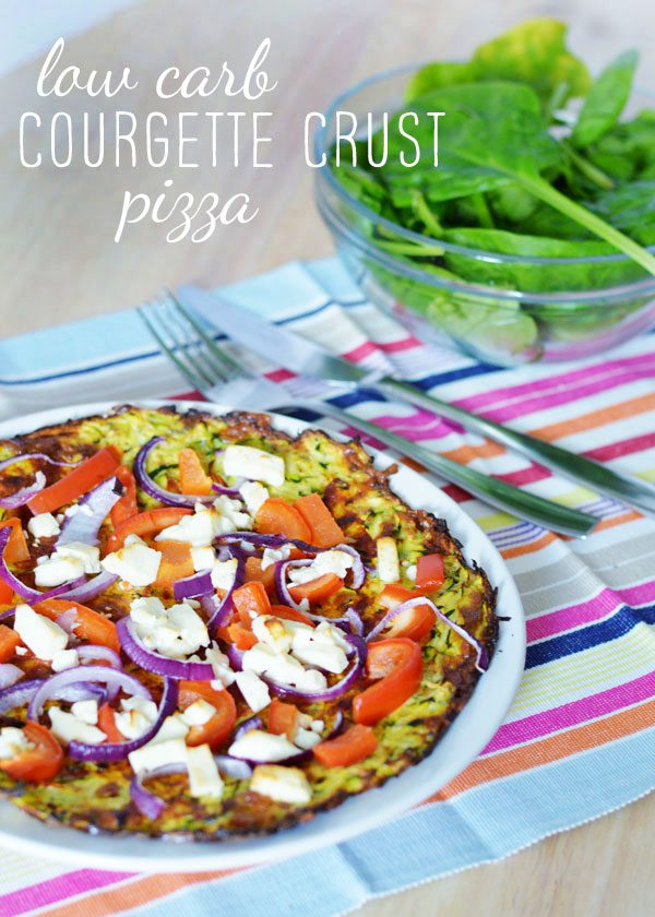 Recipe: Low carb courgette crust pizza