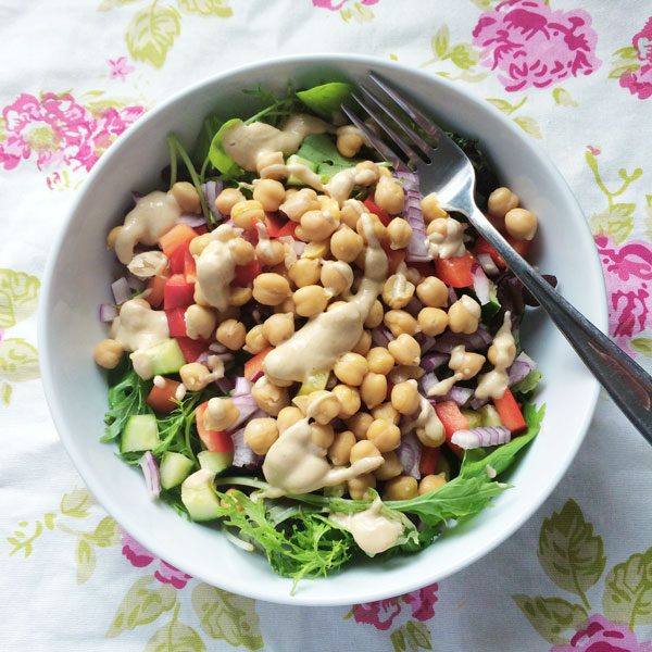 Chickpea and tahini salad