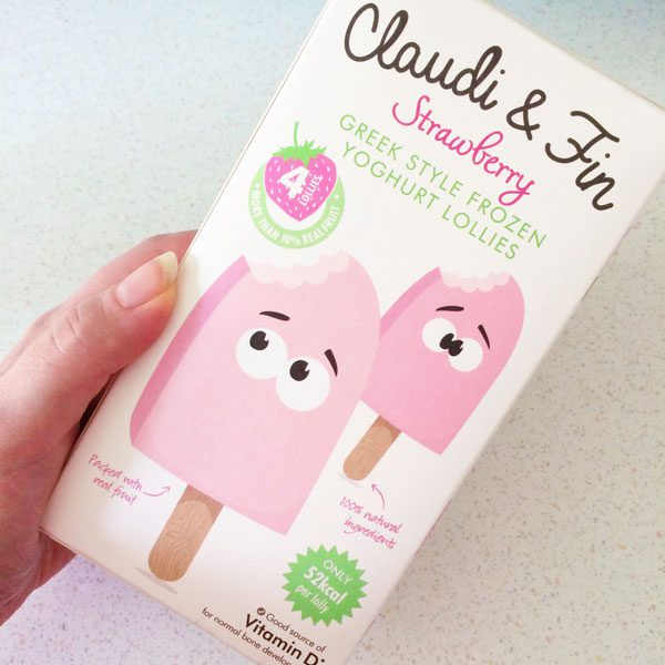 Claudie and fin ice lollies