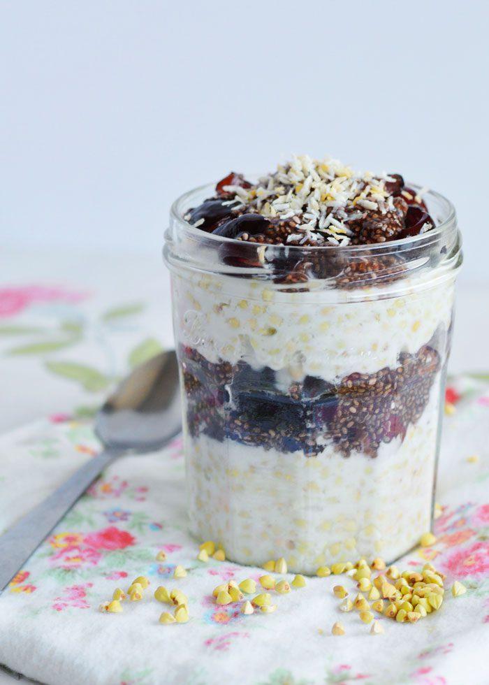 Coconut buckwheat cherry chia jam breakfast 8