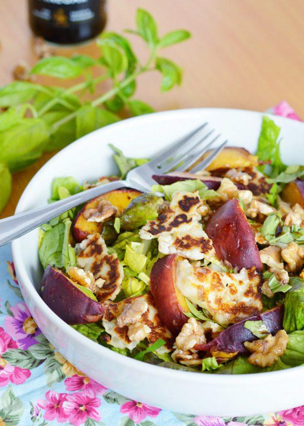 Halloumi peach salad 1