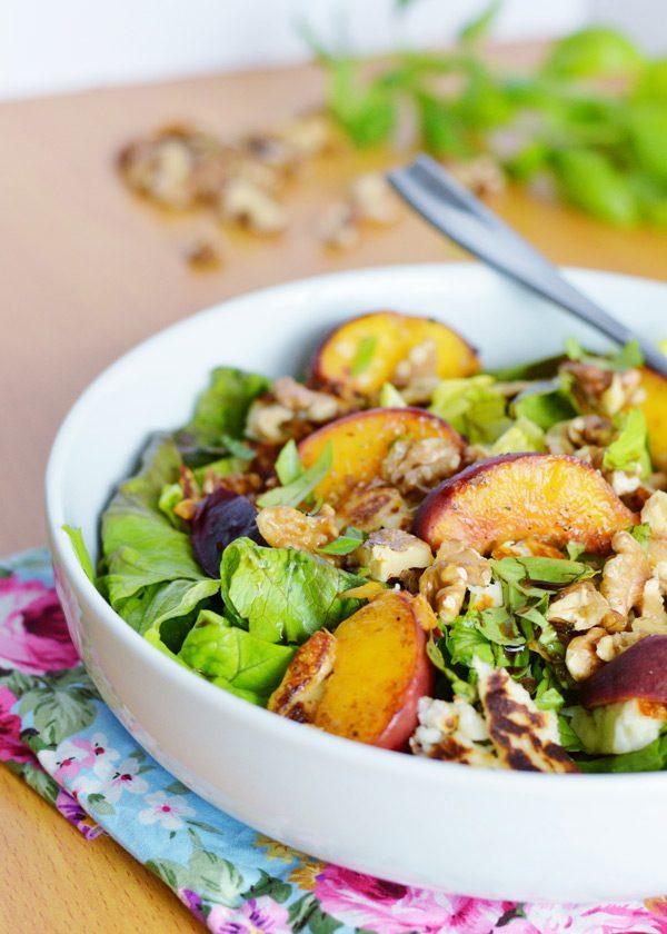 Halloumi peach salad 10