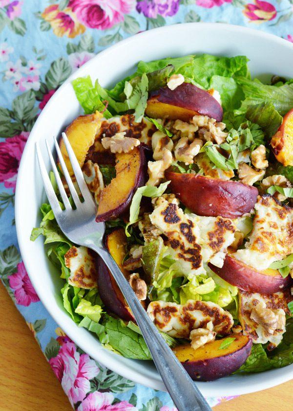 Halloumi peach salad 2