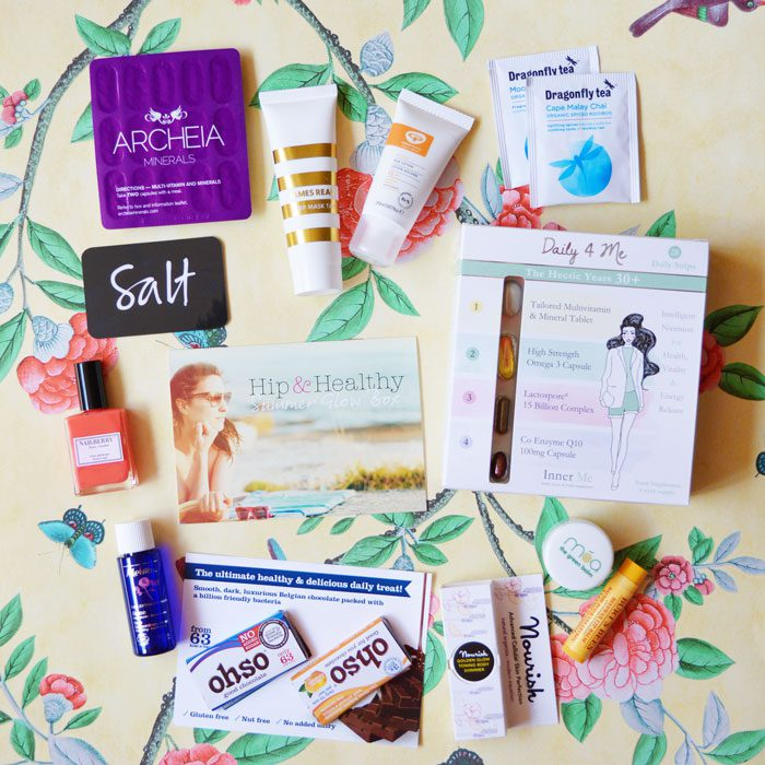 Hip and healthy latest in beauty box