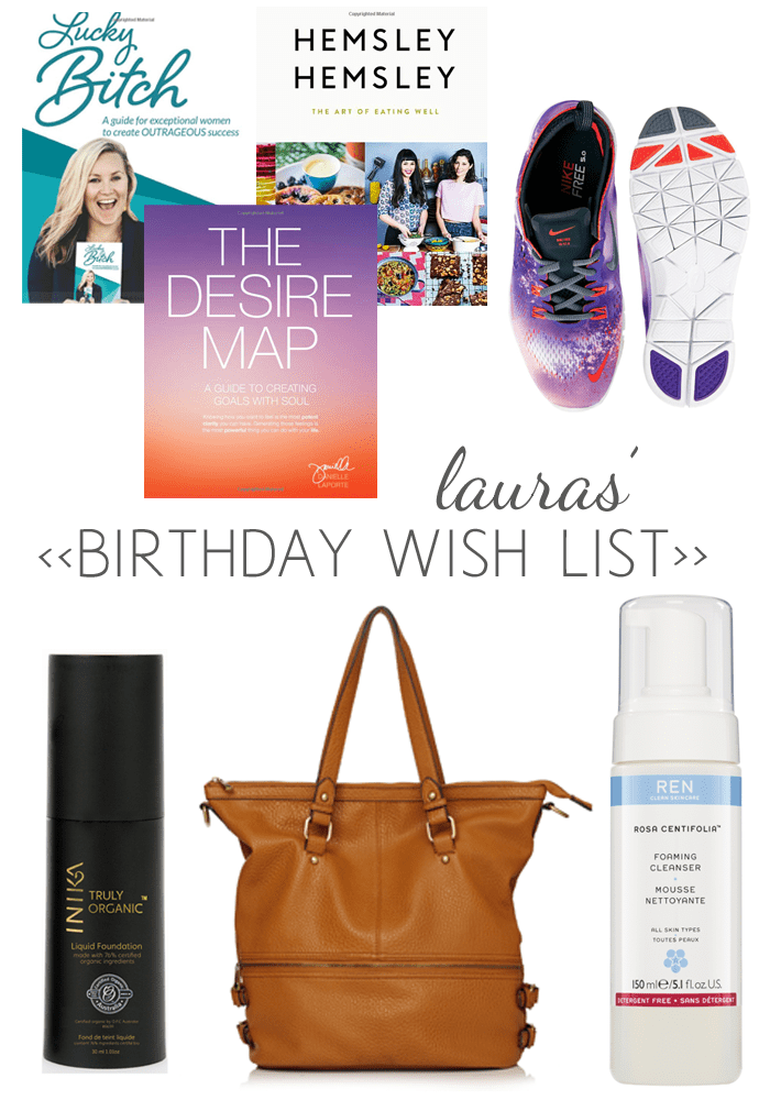 Lauras birthday wish list