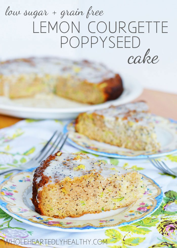 Recipe: Lemon, courgette and poppyseed cake (low sugar + grain free)