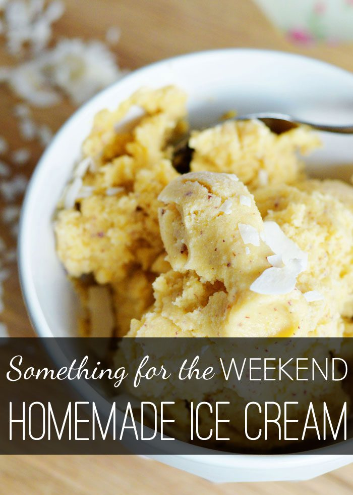 Something for the weekend: Homemade ice cream (no maker required + dairy free option!)