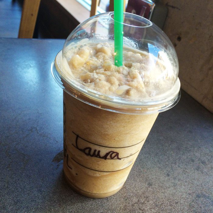 Starbucks coffee frappe laura