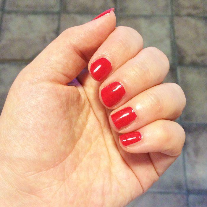 Zoya red nail varnish