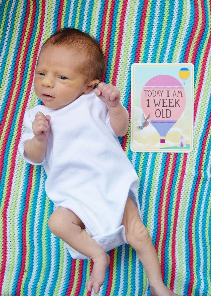 Baby finley john 1 week
