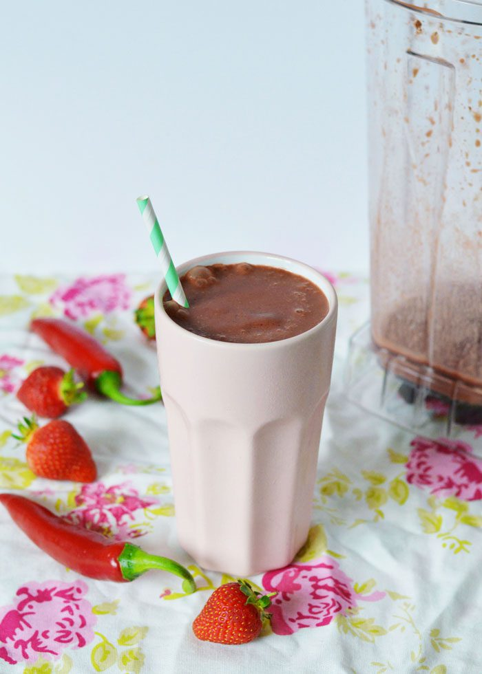 Chilli chocolate strawberry smoothie 7