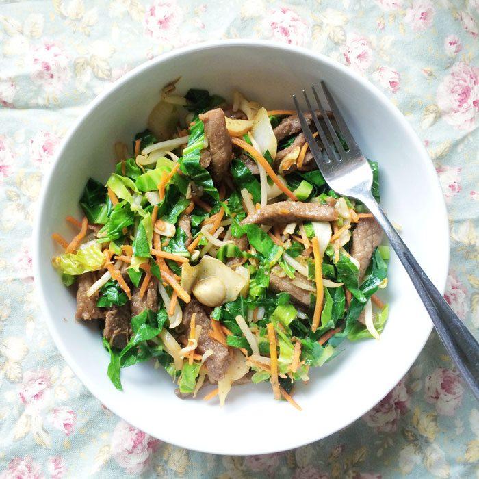 Chinese 5 spice pork stir fry