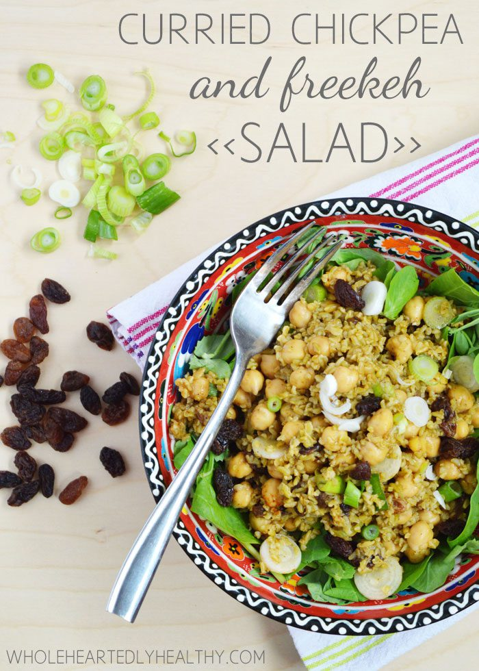 Recipe: Curried Chickpea and Freekeh Salad