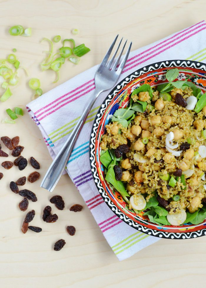 Curried chickpea freekeh salad 3