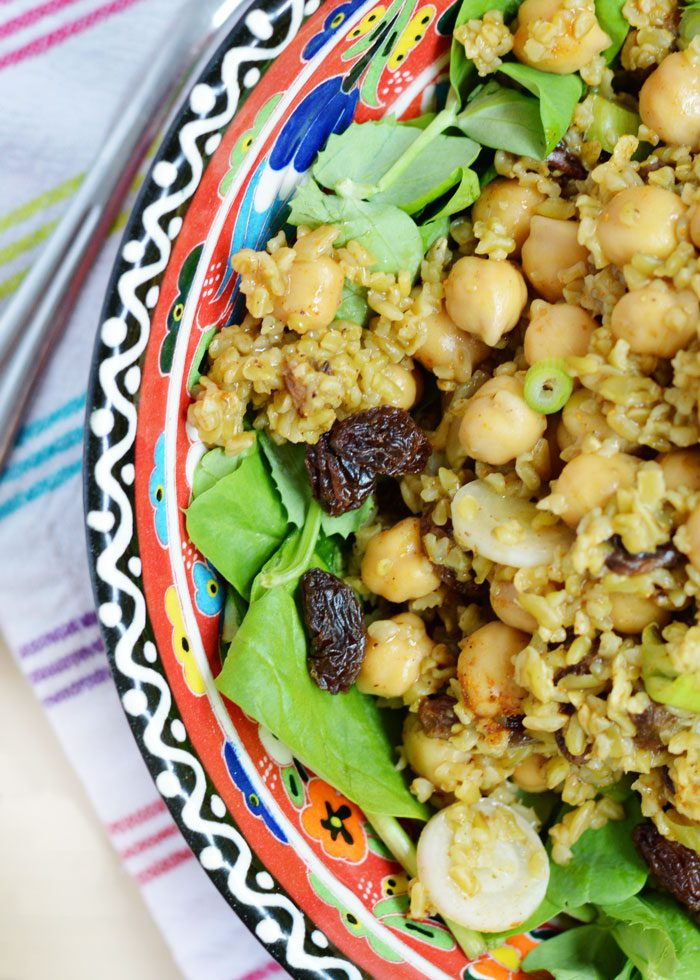 Curried chickpea freekeh salad 4