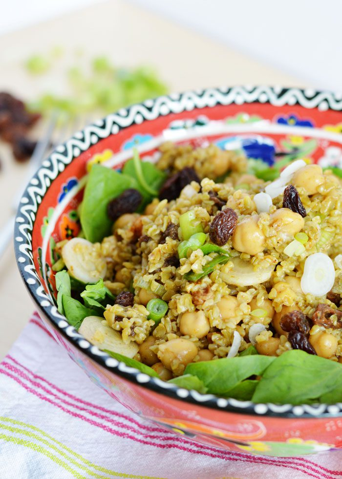 Curried chickpea freekeh salad 6