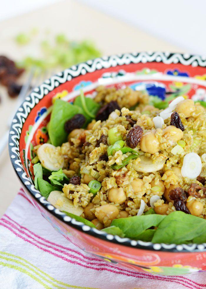 Curried chickpea freekeh salad 6