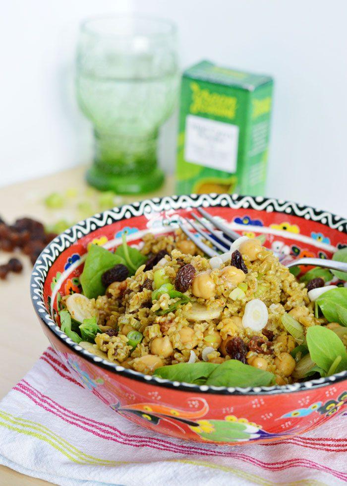 Curried chickpea freekeh salad 7