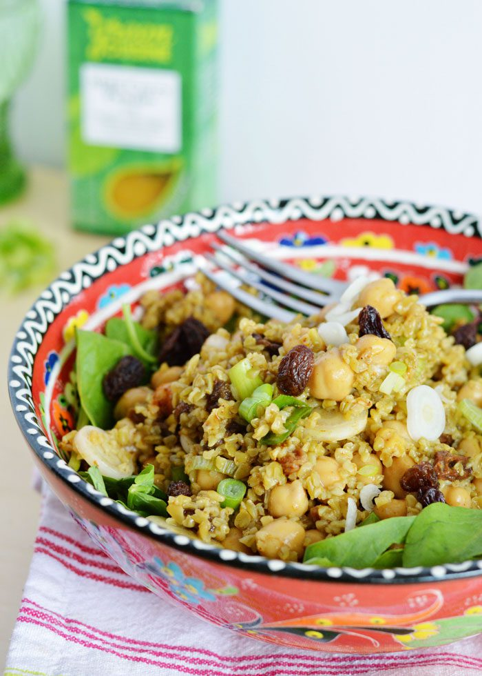 Curried chickpea freekeh salad 8