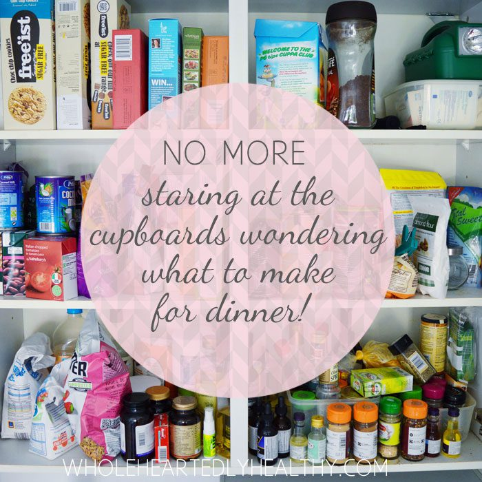 Stocked food cupboards