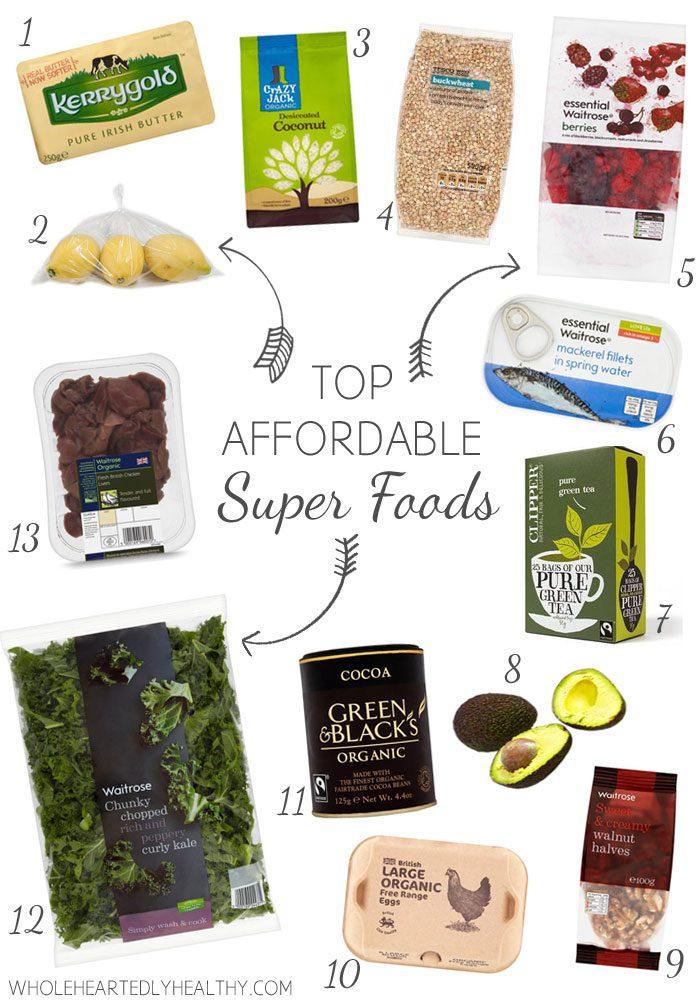 Top affordable super foods