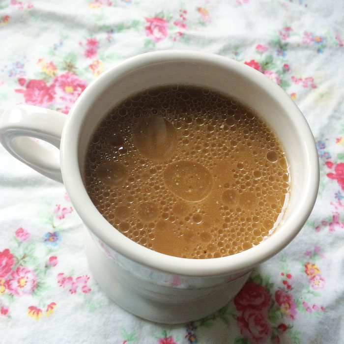 Coconut milk and oil coffee