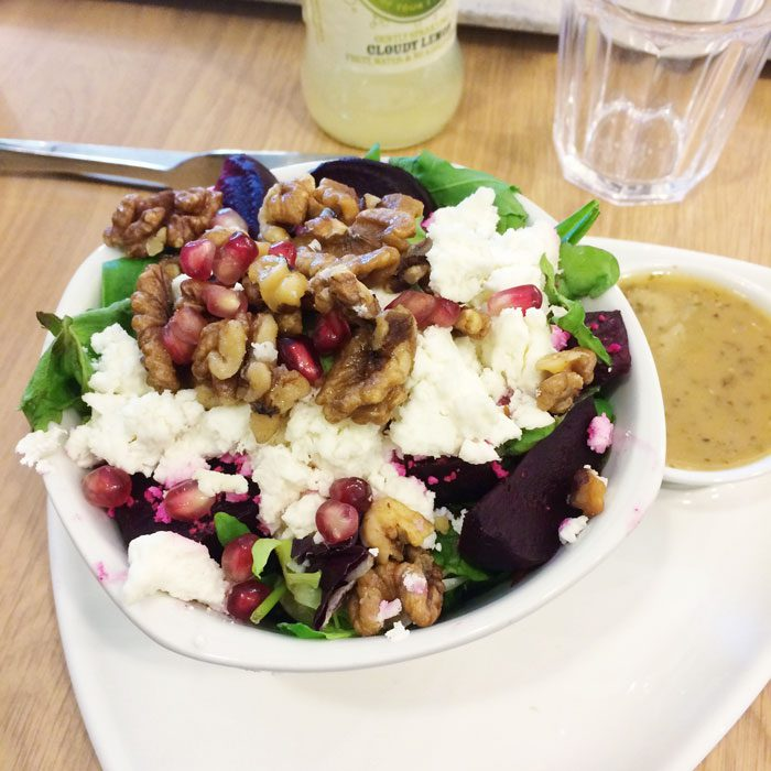 Debenhams goats cheese and beetroot salad