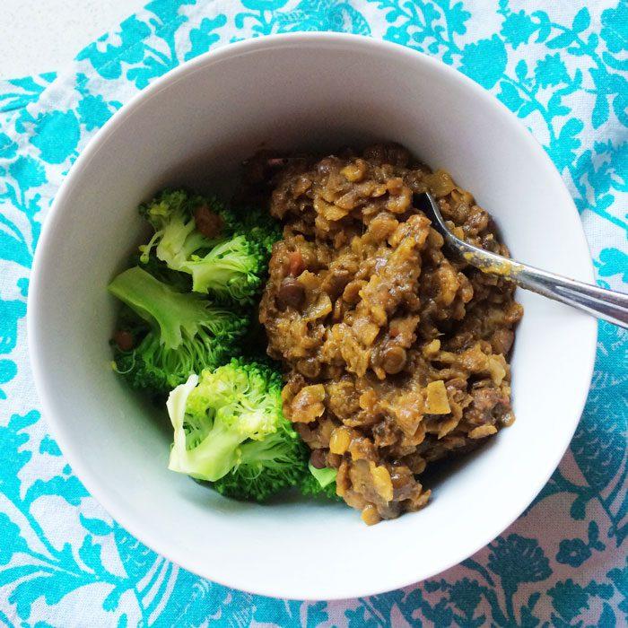 Illumi lentil dahl and broccoli