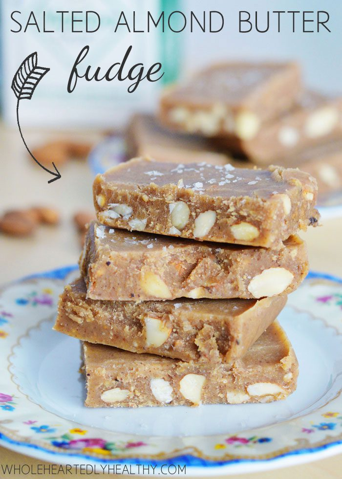Salted almond butter fudge recipe