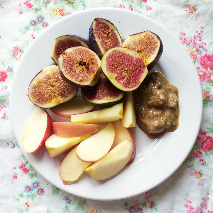 Figs apple and almond butter