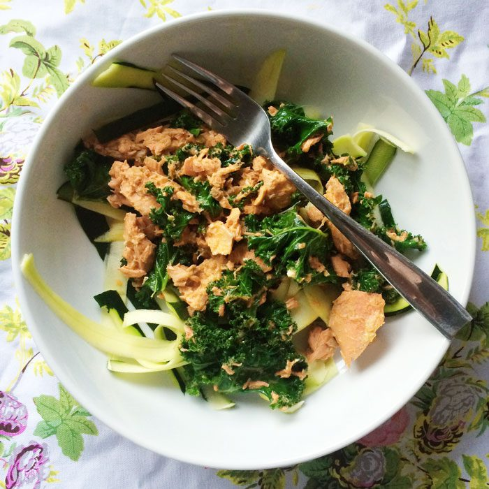 Thai red curry salmon and kale