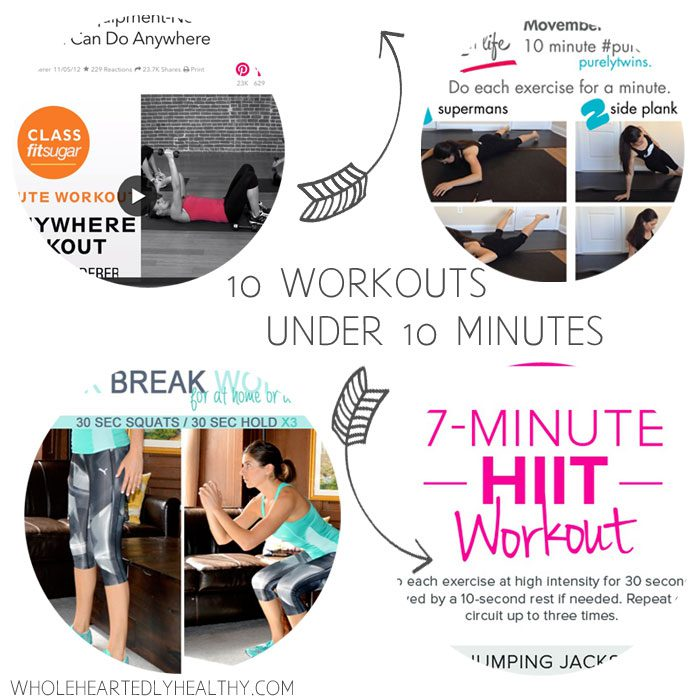 10 workouts under 10 minutes for the time challenged